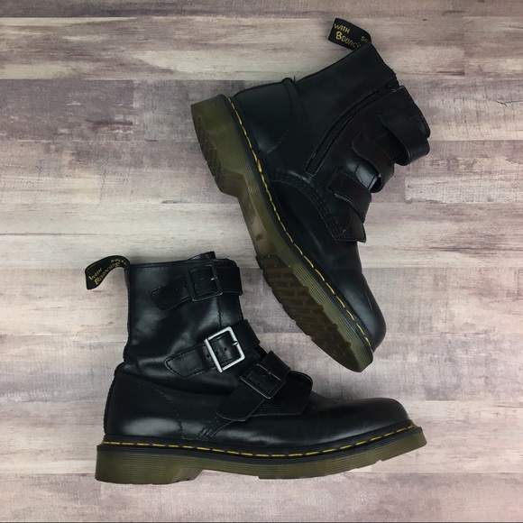 db5440058a61 Dr. Martens Shoes - Dr. Martens Blake 3 Strap Buckle Boot